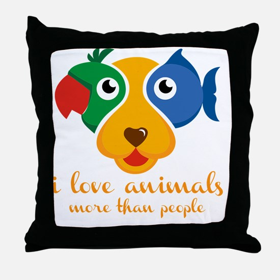 Cute Rescued horses Throw Pillow