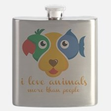 Funny Rescued horse Flask