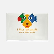 i love animals more than people Magnets