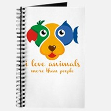 i love animals more than people Journal
