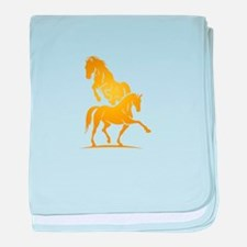 i love horse baby blanket