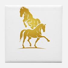 i love horse Tile Coaster