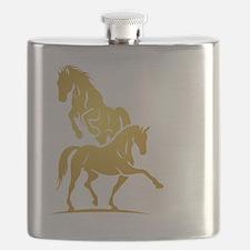 i love horse Flask