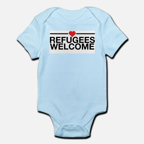 Refugees Welcome Body Suit