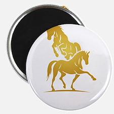 i love horse Magnets