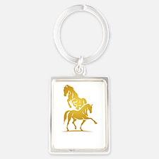 i love horse Keychains