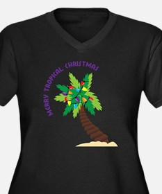 Merry Tropical Christmas Plus Size T-Shirt