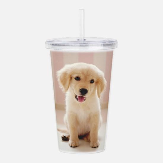 Golden Retriever Pup Acrylic Double-wall Tumbler
