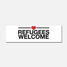 Refugees Welcome Car Magnet 10 x 3