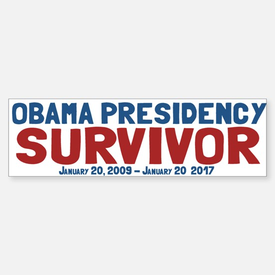 Obama Presidency Survivor Sticker (Bumper)