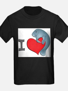 I heart manatees Ash Grey T-Shirt