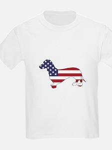 Dachshund - American Flag T-Shirt