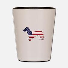 Dachshund - American Flag Shot Glass