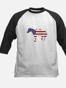 Horse - American Flag Baseball Jersey