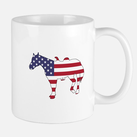 Horse - American Flag Mugs
