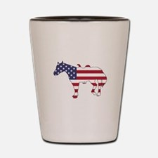 Horse - American Flag Shot Glass