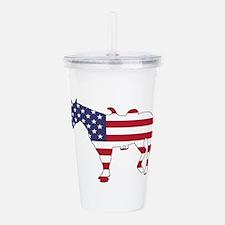 Horse - American Flag Acrylic Double-wall Tumbler