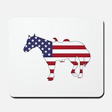 Horse - American Flag Mousepad