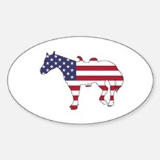 Horse - American Flag Decal