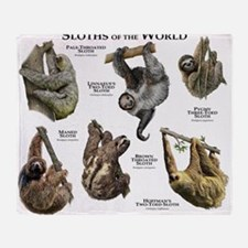 Sloths of the World Throw Blanket