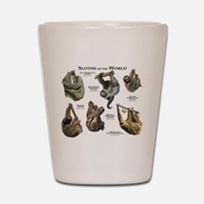 Sloths of the World Shot Glass