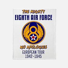 Cute Eighth air force Throw Blanket