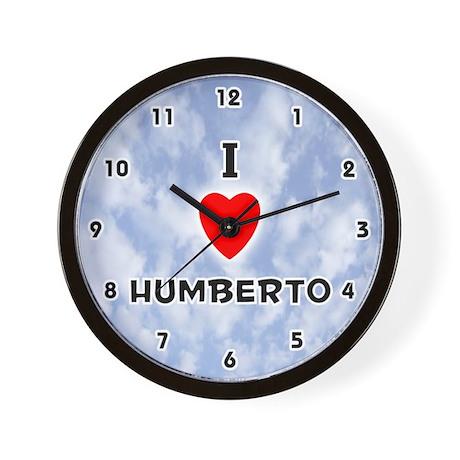 I Love Humberto (Black) Valentine Wall Clock