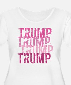 Pink Trump Plus Size T-Shirt