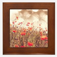 Poppy Field Framed Tile