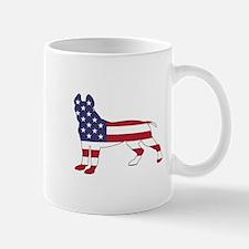 pit bull terrier - american flag Mugs