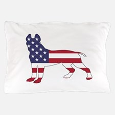 pit bull terrier - american flag Pillow Case
