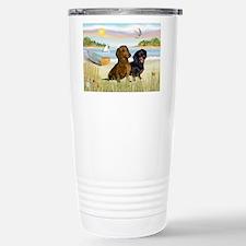 Cute Dachshund tile Travel Mug