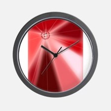 Ruby Starburst Wall Clock