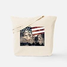 Patriotic Mount Rushmore Tote Bag