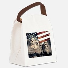 Patriotic Mount Rushmore Canvas Lunch Bag