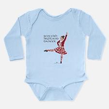 Scottish Highland Danc Long Sleeve Infant Bodysuit