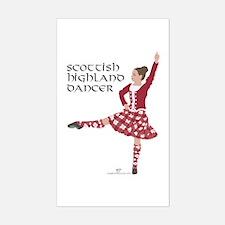 Scottish Highland Dancer Decal