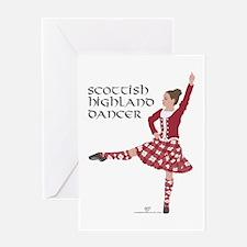 Scottish Highland Dancer Greeting Card
