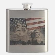 Patriotic Mount Rushmore Flask