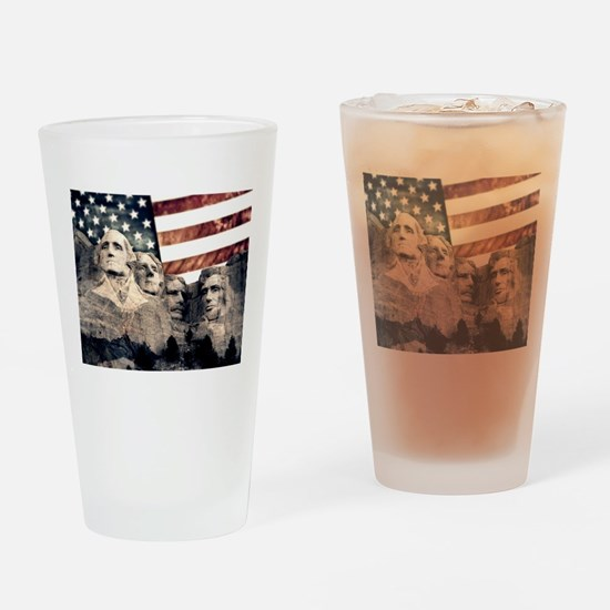 Patriotic Mount Rushmore Drinking Glass