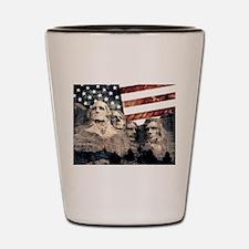 Patriotic Mount Rushmore Shot Glass
