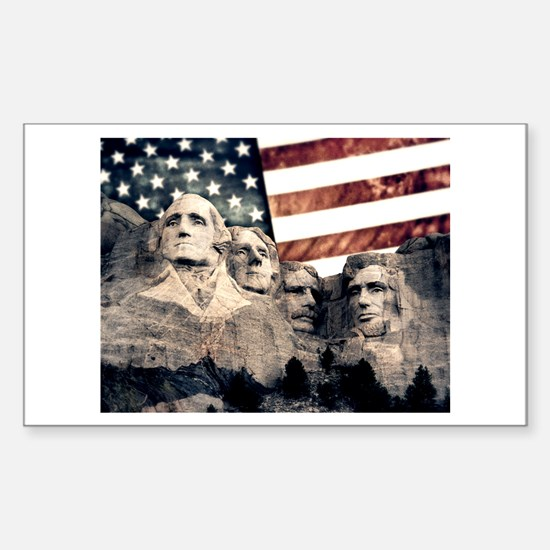 Patriotic Mount Rushmore Decal
