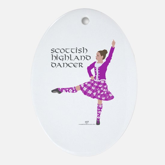 Scottish Highland Dancer Oval Ornament