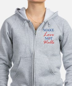 Make Love Not Walls Zip Hoodie