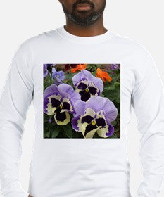 Happy Pansy Trio Long Sleeve T-Shirt