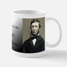 Thoreau Abides (Shirt) Mugs