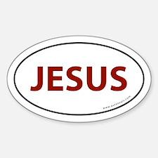 Jesus Bumper Sticker -Red Letter (Oval)