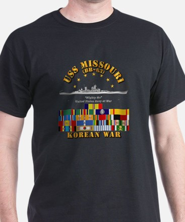 USS Missouri - Korean War w SVC Ribbo T-Shirt