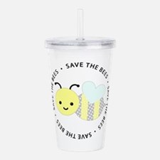 Save The Bees Acrylic Double-wall Tumbler
