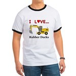 I Love Rubber Ducks Ringer T